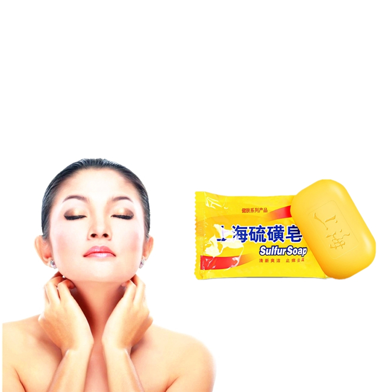 85g Sulfur Soap Face Care Acne Treatment Black Head Clean Pores Mite Anti-bacterial Anti-inflammatory Soap