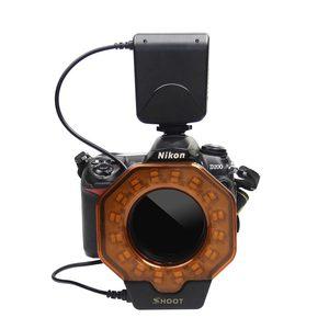 Image 2 - مصباح فلاش حلقي ماكرو Led لكاميرات Canon MarkIII Nikon Olympus Pentax SLR بقطر 52/55/58/62/72/77 مللي متر
