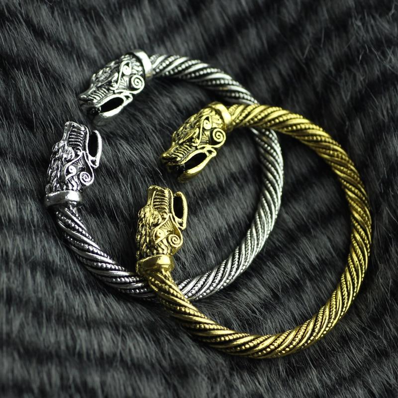 pas cher pour réduction eafd3 165c8 € 2.94 20% de réduction|Livraison directe Bracelet Viking tête en métal  serpent homme Bracelet accessoires Viking Bracelet hommes Bracelet bijoux  de ...