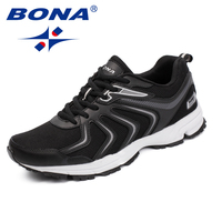 BONA New Fashion Style Men Casual Shoes Lace Up Men Loafers Microfiber Men Outdoor Sneakers Shoes