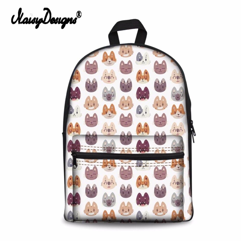 Noisydesigns ผู้หญิงกระเป๋าสัตว์ 3D Funny Cat รูปแบบนักเรียนโรงเรียนแล็ปท็อปกระเป๋าเป้สะพายหลังวัยรุ่นกระเป๋าเดินทางหญิง Rucksack-ใน กระเป๋าเป้ จาก สัมภาระและกระเป๋า บน   2