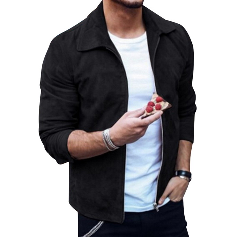 HTB1q0iTaAT2gK0jSZFkq6AIQFXaT MJARTORIA 2019 New Fashion Men's Suede Leather Jacket Slim Fit Biker Motorcycle Jacket Coat Zipper Outwear Homme Streetwear