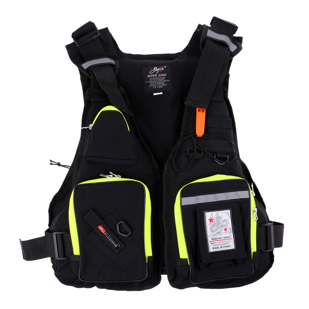 Multi-pocket Universal Jacket Kayak Canoe Surfing Swimming Sailing Fishing Ski Vest Buoyancy Aid Water Sports Equipment