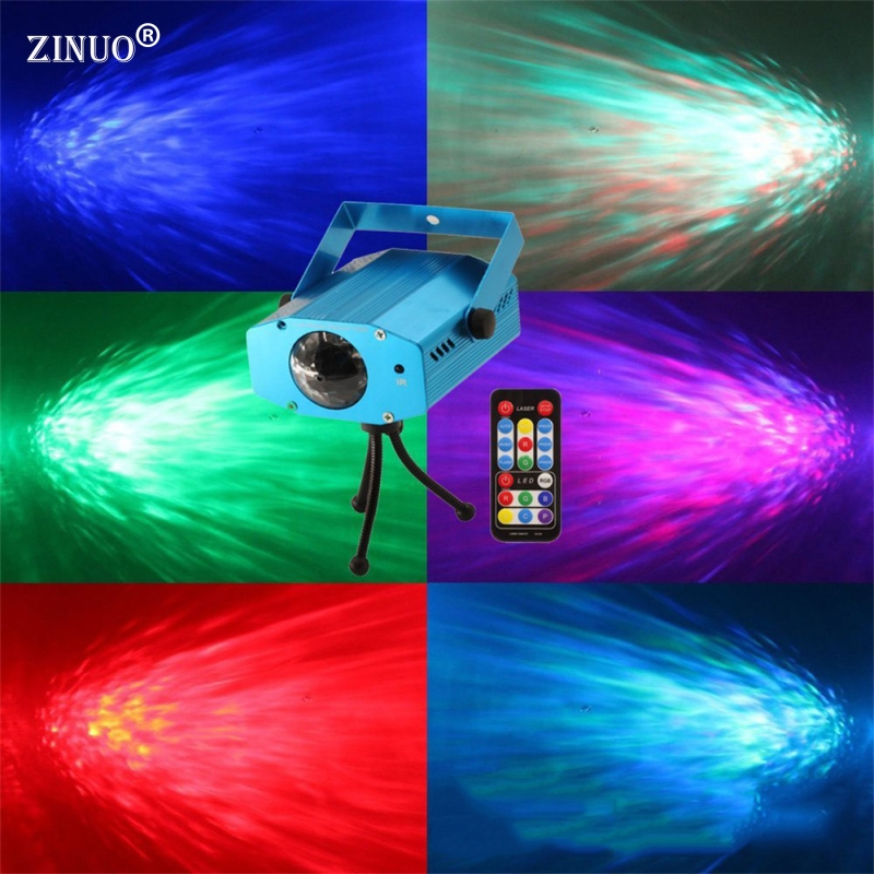 ZINUOb 3W RGB Laser Projector Light Water Wave Ripple Effect Stage Lamps DJ Disco Laser Stage Light For Home Party Entertainment laser head wave music system awrcc7