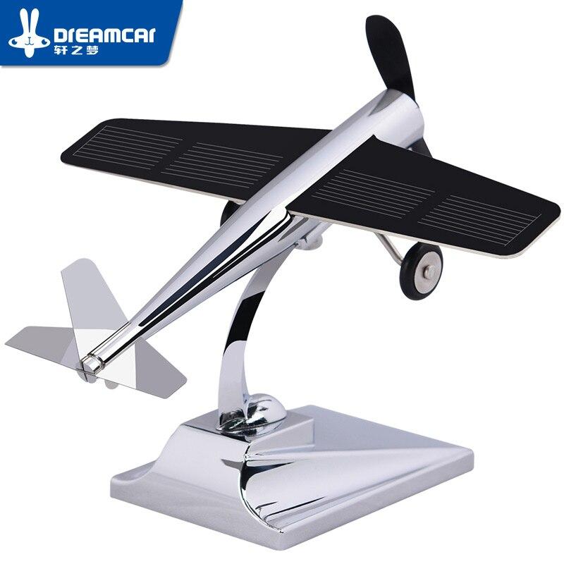Dreamcar alta tecnologia modelo de aeronaves ornamentos hélice rotativa energia solar 0.4 w para decoração interior do carro acessórios