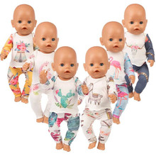2019 Hot Sale Born New Baby Fit 18 inch 40-43cm Doll Clothes Cactus Unicorn Flamingo accessories For Gift