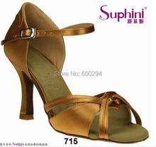 Free Shipping 2017 Suphini Factory Sale Price Salsa Shoes, Satin Dance Shoe, Lady Latin Dance Shoes