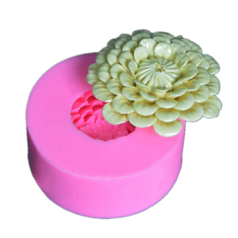 3D Chrysanthemum Flowers Craft Art Silicone 3D Soap Mold Craft Molds DIY Handmade Candle Molds