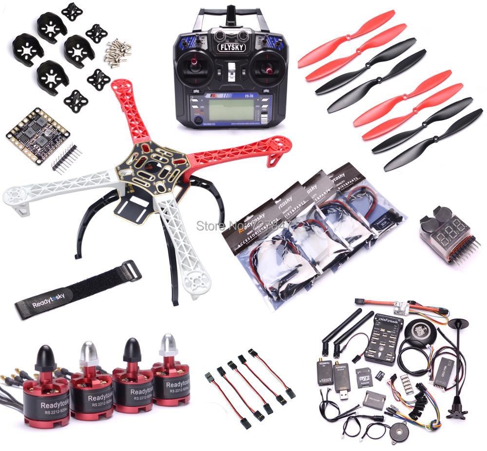 F450 Multi Copter Quadcopter Kit de Pixhawk PX4 PIX 2.4.8 M8N GPS 2212 920kv 40a CES Motor 1045 Prop Flysky i6 Super combo-in Partes y accesorios from Juguetes y pasatiempos    1