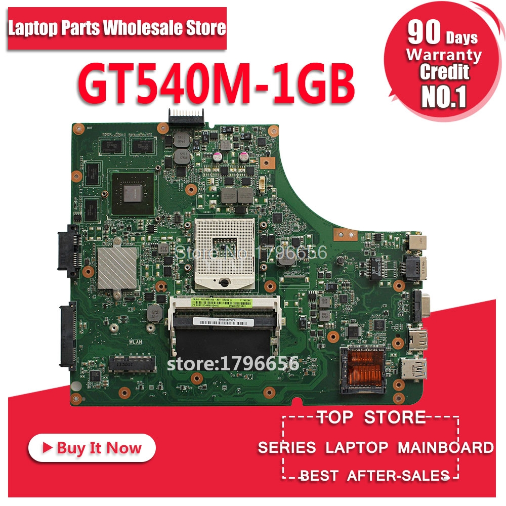 цена на K53SV Motherboard REV:3.1 1GB GT540M RAM For ASUS X53S A53S K53SJ K53SC P53S laptop Motherboard K53SV Mainboard test 100% OK