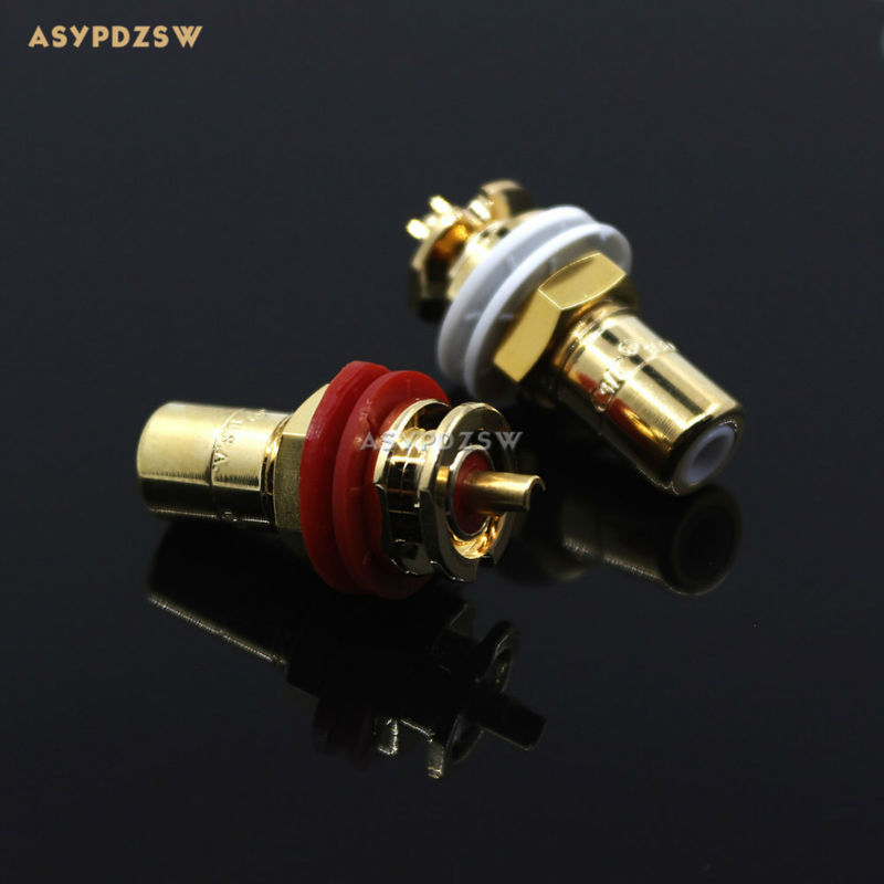 10 Pair high quality U.S.CMC 816 gold-plated RCA terminals Amplifier RCA socket high performance gold plated viborg 805 tools rca socket fitting tool