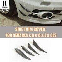 Carbon Fiber Front Bumper Side Canards Splitter Spoiler for Benz W176 A W117 CLA W204 W205 C W212 W207 E W218 CLS ALL CARS