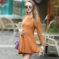 2017 новый вязаный свитер материнства платье моды жилет толщиной длинное платье для беременных слинг танк одежда для беременных