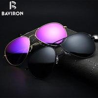 BAVIRON Driving Sunglasses Men Retro Classic Glasses Metal Women Polarized Sunglasses Tinted Lenses UV400 Popular Eyewear
