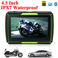 2017 Hot 4.3 Inch Motorcycle GPS Car Gps Navigation IPX7 Waterproof 8GB Internal Memroy for Motorcycle+ Maps of Most Countries