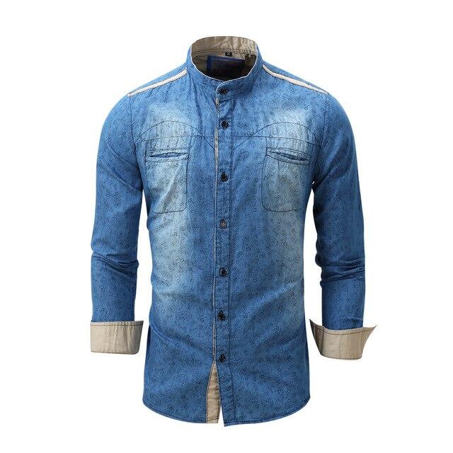 Plus Size Fredd Marshall 2017 Brand New Men Dress Shirt Male Jean Shirts Men's Fashion Casual Long Sleeve for Man N091