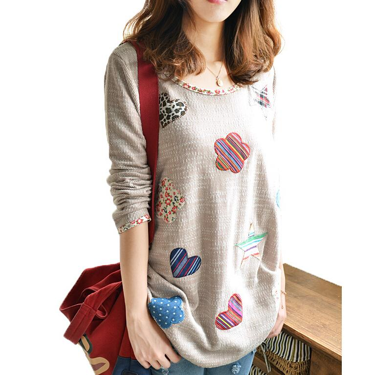 Vintage Floral Embroidery Women Clothes Linen Long Sleeve