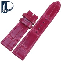 Pesno Women Watch Accessory Bamboo Texture Alligator Skin Leather Watch Band Beautiful Rosy Watch Strap with Pin Buckle