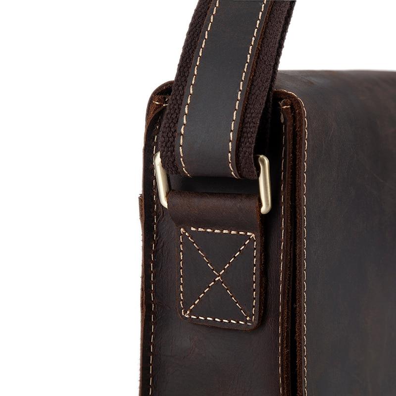 Image 5 - WESTAL genuine leather men's shoulder bag male satchels handbag bussiness document messenger bag men's crossbody bags for men-in Crossbody Bags from Luggage & Bags