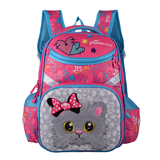 2018 New Backpacks For School Bags Girls Cartoon Cat 19 inch Size  Orthopedic Backpack Children Knapsack Girls Mochila Escolar 95f4eb1e7592d