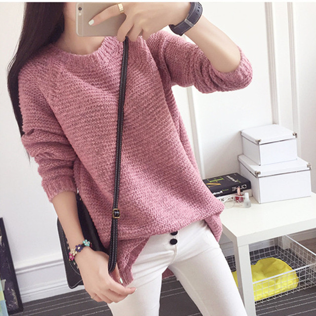 Autunm Winter Fashion Women Sweaters 2017 Jumper Pullovers korean style Casual clothing Pull Femme Slim knitted Sweater