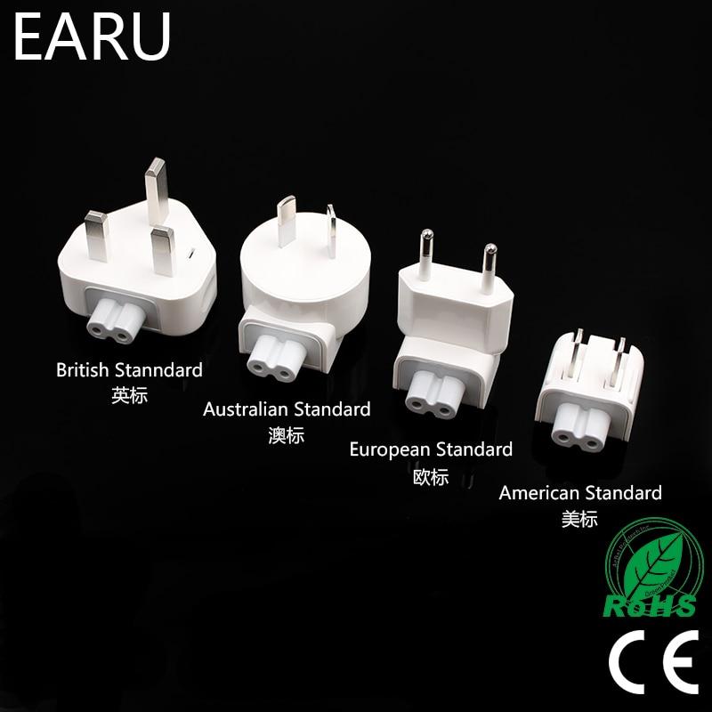 цена на Wall AC Detachable Electrical Euro EU US AU UK Plug Duck Head for Apple iPad iPhone USB Charger for MacBook Power Adapter Phone