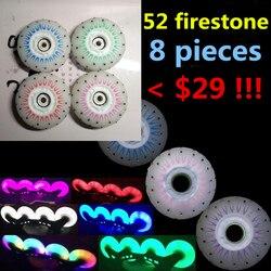 Slide king 52 firestone inline rodas de skate 80mm 90a fogo pedra faísca brilhar rodas de flint para seba para powerslide patins de rolo