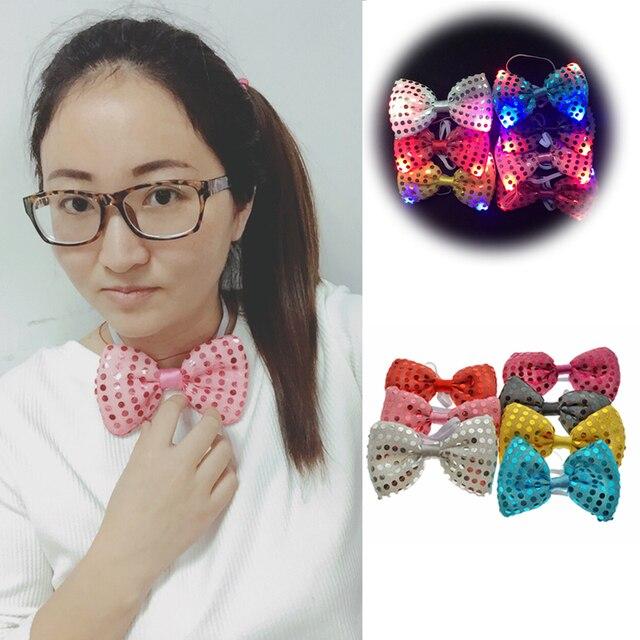 2018 реальные сувениры и подарки 10 шт./лот Led шеи галстук Glow мигает человек или Для женщин свет вечерние лук игрушки события день рождения поставки