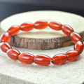 Beautiful Natural Red Rice Agate Beads Onxy gem stone beads bracelet link stretch bracelet bangle