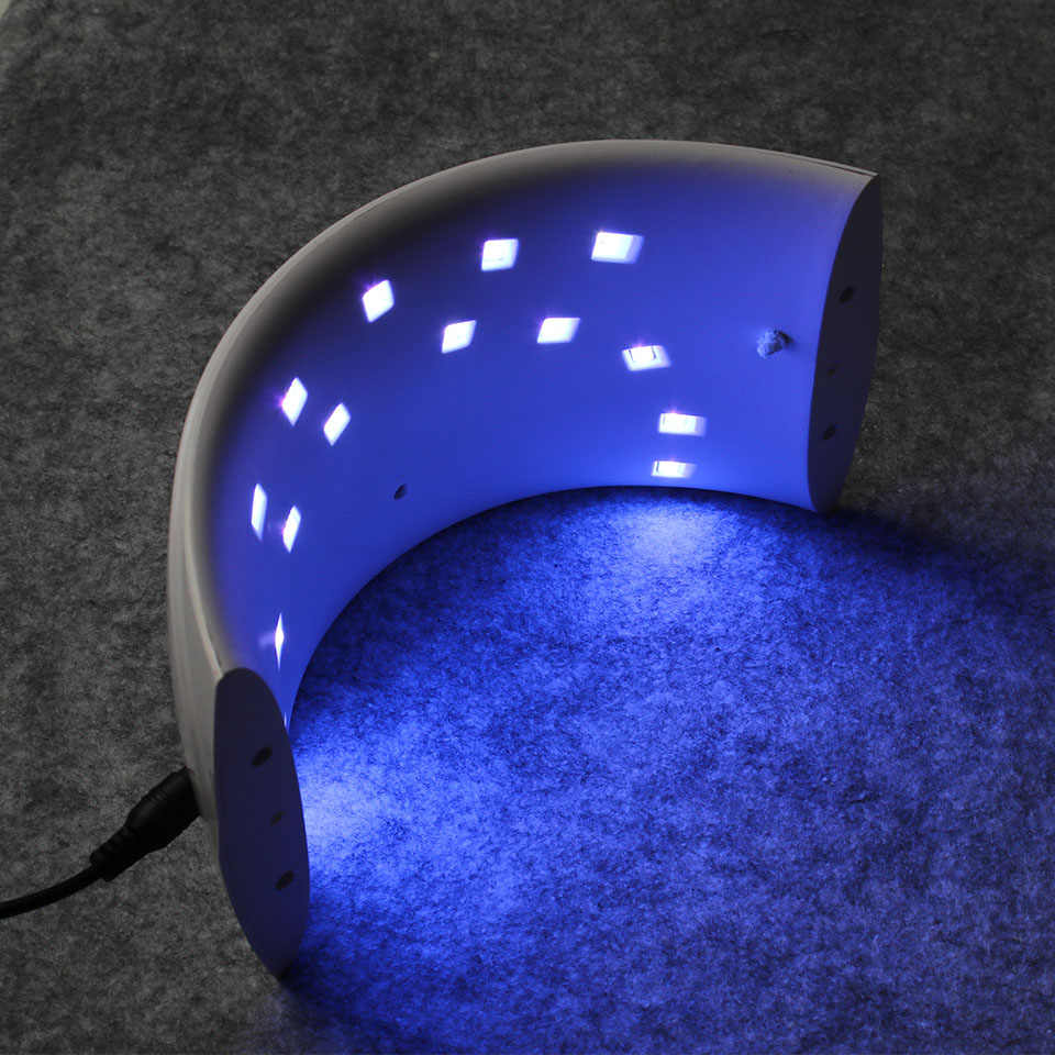 LED מסמר SUN9C & 9 s שמש חיישן 24 w USB נטענת שריון שמן נייל מייבש מכונה טיפול נייל אשפרה ג 'ל אמנות כלי