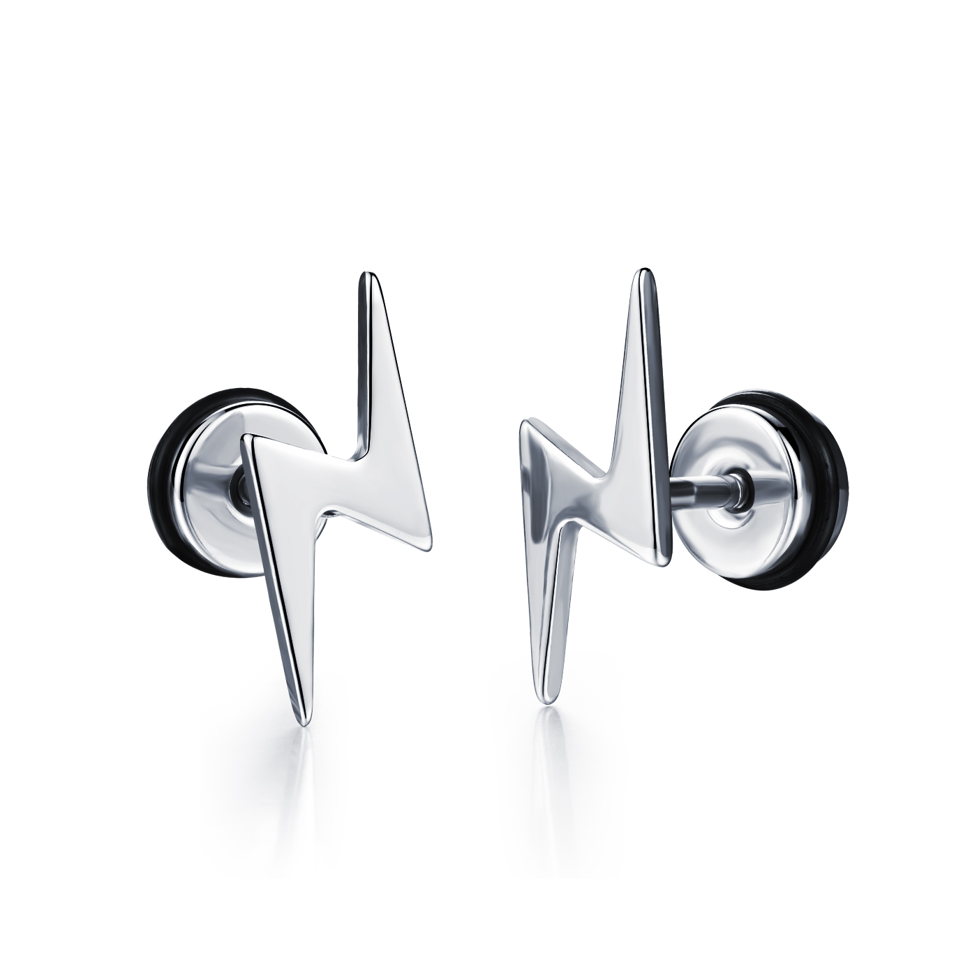 Fate Love Punk Stud Earrings Stainless Steel White/Black Earrings For Men Earrings Party FL323