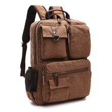 Canvas Backpack Mochila Laptop Rucksack AUGUR School-Students Computer-Bag Korean Middle