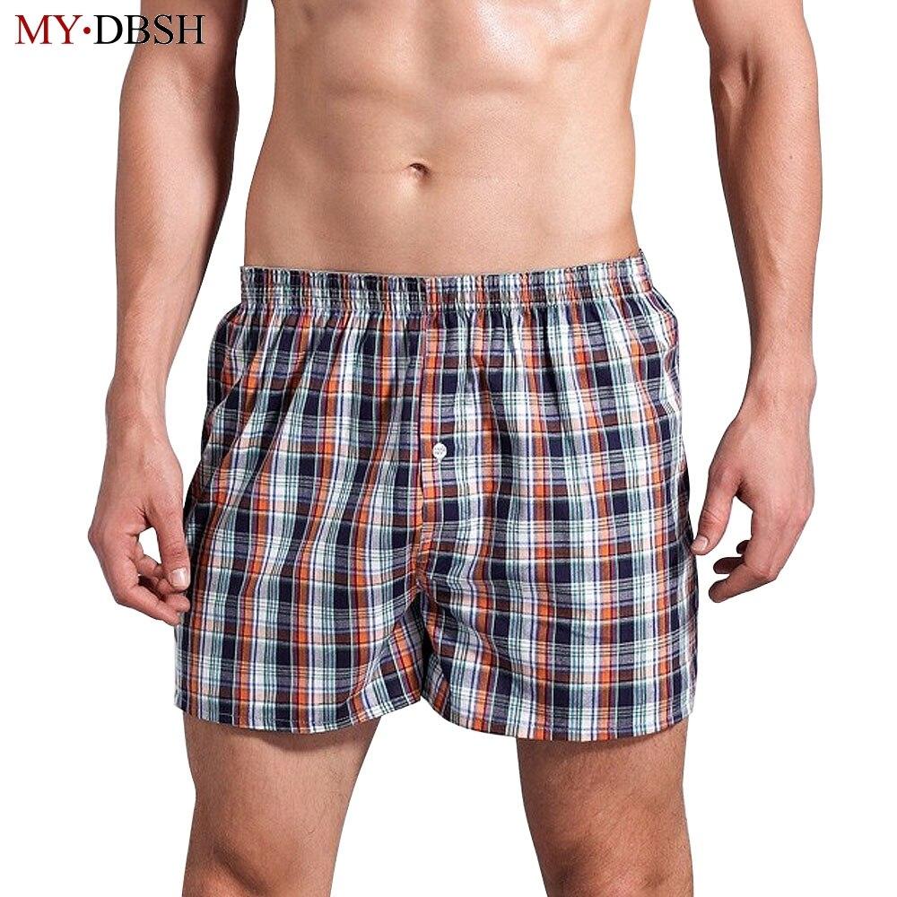 Short Boxers Underwear Bulk-Price Multicolor Comfortable Soft Men's Cotton Casual Plaid