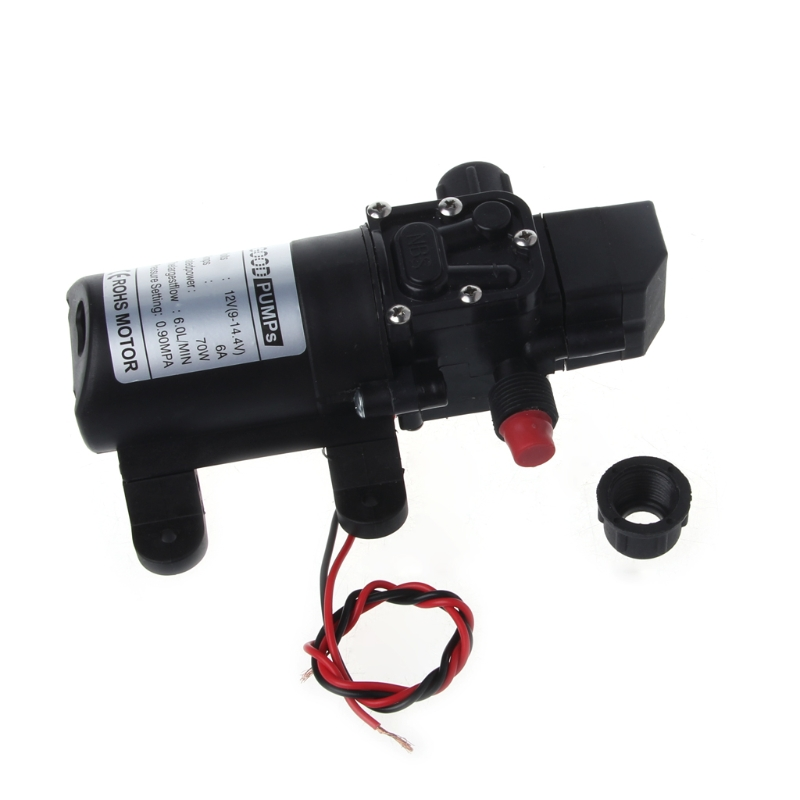DC 12V 130PSI 6L/Min Water High Pressure Diaphragm Self Priming Pump 70W #Aug.26