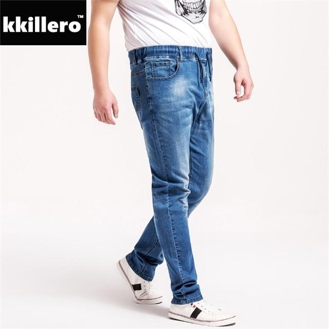d30a992614 Tamaño completo l-6xl Vaqueros hombres cintura elástica regular fit Soft  stretch calidad para la