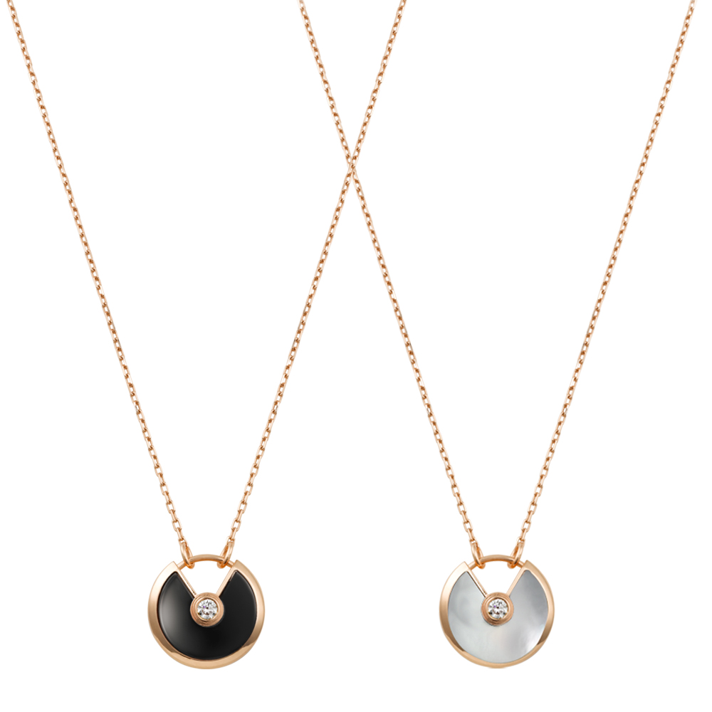Trendy Titanium Steel Rose Gold Natural Shell Carter Love Necklace Pendants for Women Girls Choker Statement Necklace Collares