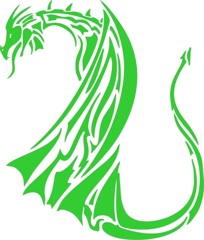 Dragon Tribal Mythical Creature Car Truck Window Laptop Vinyl Decal Sticker