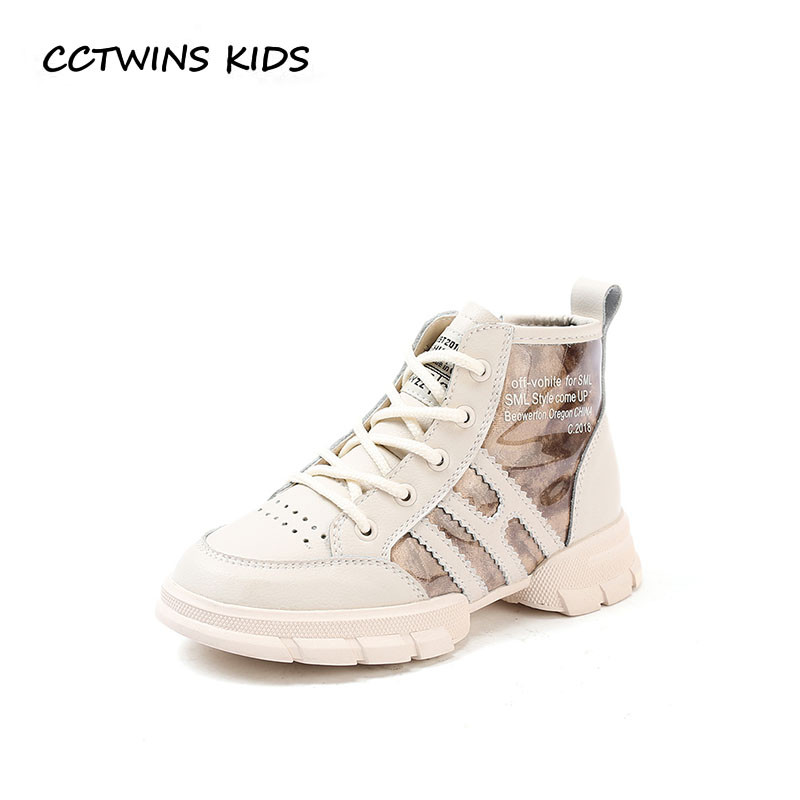 все цены на CCTWINS KIDS 2018 Autumn Winter Baby Girl Fashion High Top Sneaker Boy Casual Sport Shoe Children Genuine Leather Trainer FH2304