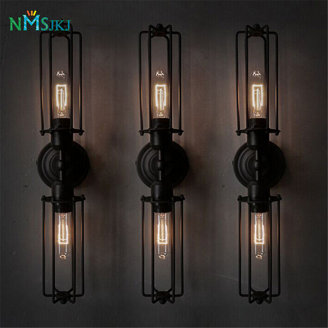 Black Antique Wrought Iron Wall Sconces Light Decor Lighting Fixture