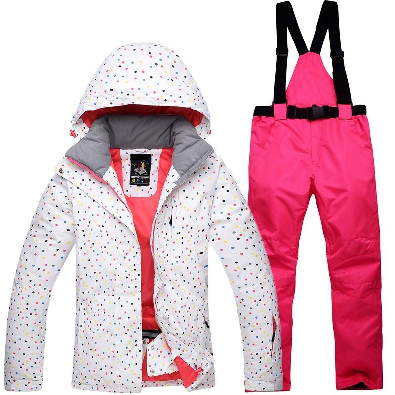 LumiParty Women Skiing Jackets And Pants Snowboard Sets Thick Warm Waterproof Outdoor Hiking Jacket Snow Winter Female Ski Suit ночная сорочка бриз голубая