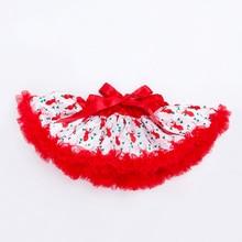 YK&Loving Tulle Skirt for Baby Girls Christmas Tutu Mini Skirts Xmas Deer Printed Costumes Gift Free Shipping