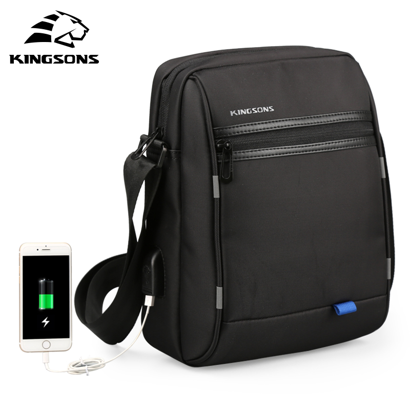 Kingsons Men's Messenger Bags Waterproof Men's School Business Carrying Handle Bag 9.7 Inches Fashion Shoulder Crossbody Bags