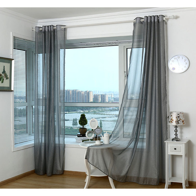 Modern Curtains For Living Room Tulle Window Bedroom Cortinas Yarn