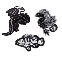 embroidery india silk pin on patches for clothing brooch animal badge designer patches for jeans parches bordados para ropa