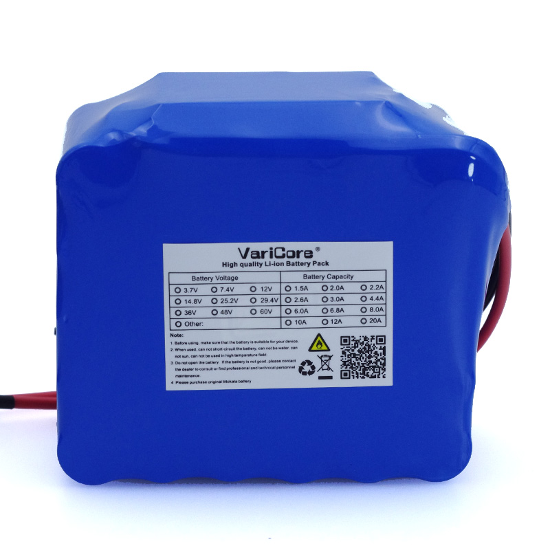 Image 3 - VariCore 12V 11.1v 20Ah high power 50A 100A discharge battery pack BMS protection 4 line output 12.6V 500W 800W 18650 batteries-in Battery Packs from Consumer Electronics