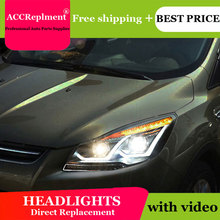 Auto.Pro Car Styling for Ford Escape Headlights LD New Kuga LED Headlight DRL Lens Double Beam H7 HID Xenon bi xenon lens цена в Москве и Питере