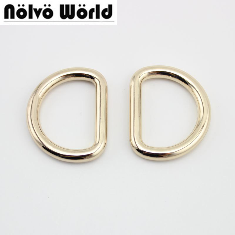 10pcs 50pcs 32mm 6.0mm D Ring Belt Buckle,zinc Alloy Hardware Metal D Ring For Bags Round Edge D Ring,alloy Metal Fat  Welded