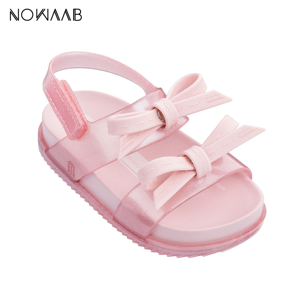 Mini Melissa 2019 Cosmic Sandal Girls Jelly Sandals Bow Girl Princess Sandals Kids Beach Shoes Non-slip Kids Mini Melissa Baby