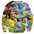 Juego Pokemon caliente Sudadera Mujeres/Hombres Sudor de Dibujos Animados de Anime de Impresión 3d Sudaderas Moleton Feminino Camisa Tops