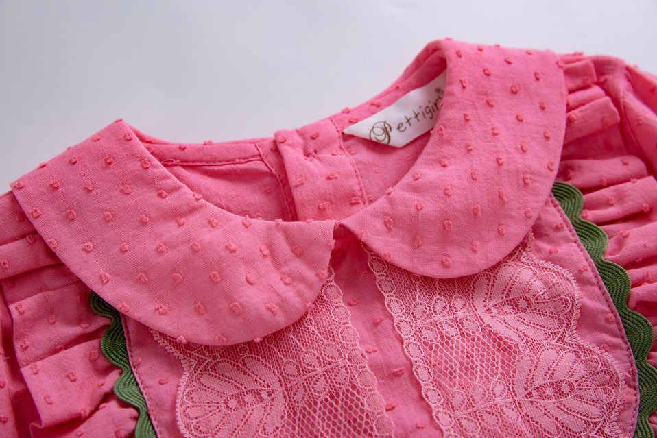 Pettigirl 2019 primavera Rosa flor niñas princesa ropa conjunto con diadema Tops + faldas florales chico disfraz G-DMCS110-B451